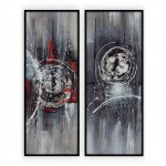 Abstract Art Oilpaintings - 12 - Set of Two