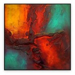 Abstract Art Oilpaintings - 003: 40x40""