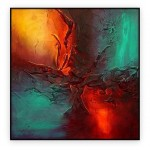 Abstract Art Oilpaintings - 004: 40x40""