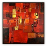 "Abstract Art Oilpaintings - 005: 40"" x 40 """