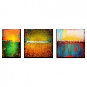 "Abstract Art Oilpaintings - 011: Set of 3, Total 72"" x 84 """
