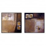 "Abstract Art Oilpaintings - 031: Set of 2 | 40"" x 40"" Each"
