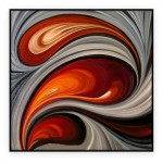 "Abstract Art Oilpaintings - 081: 40"" x 40 """