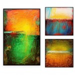 Abstract Art Oilpaintings - 133: Set of 3
