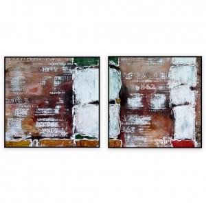 "Abstract Art Oilpaintings - 181: Set of 2 - 40"" x 40 "" each"