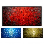 "Abstract Art Oilpaintings - 117: set of 2 - 40x40"" each"