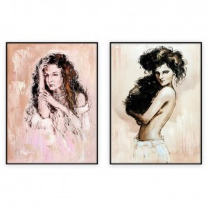 Fashion Art Oilpaintings 033: set of 2 - 30x40 inches each