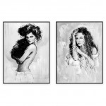 Fashion Art Oilpaintings 032: set of 2 - 30x40 inches each