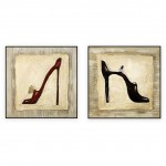 Fashion Art Oilpaintings 076: set of 2 - 30x30 inches each