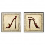 Fashion Art Oilpaintings 073: set of 2 - 30x30 inches each