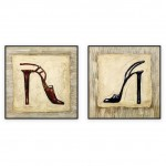 Fashion Art Oilpaintings 075: set of 2 - 30x30 inches each