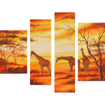 Multipanel Art Oilpaintings 4