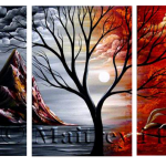 Multipanel Art Oilpaintings 213