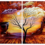 Multipanel Art Oilpaintings 214