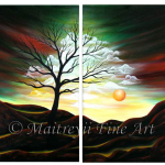 Multipanel Art Oilpaintings 215