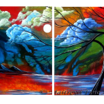 Multipanel Art Oilpaintings 410