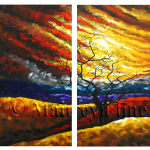 Multipanel Art Oilpaintings 411