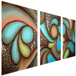 Multipanel Art Oilpaintings 429