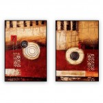 "Abstract Art Oilpaintings - 008: Set of 2 - 24"" x 36 "" each,"