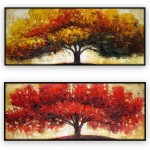 Abstract Art Oilpaintings - 016: Set of 2 | 24 x 48 Each
